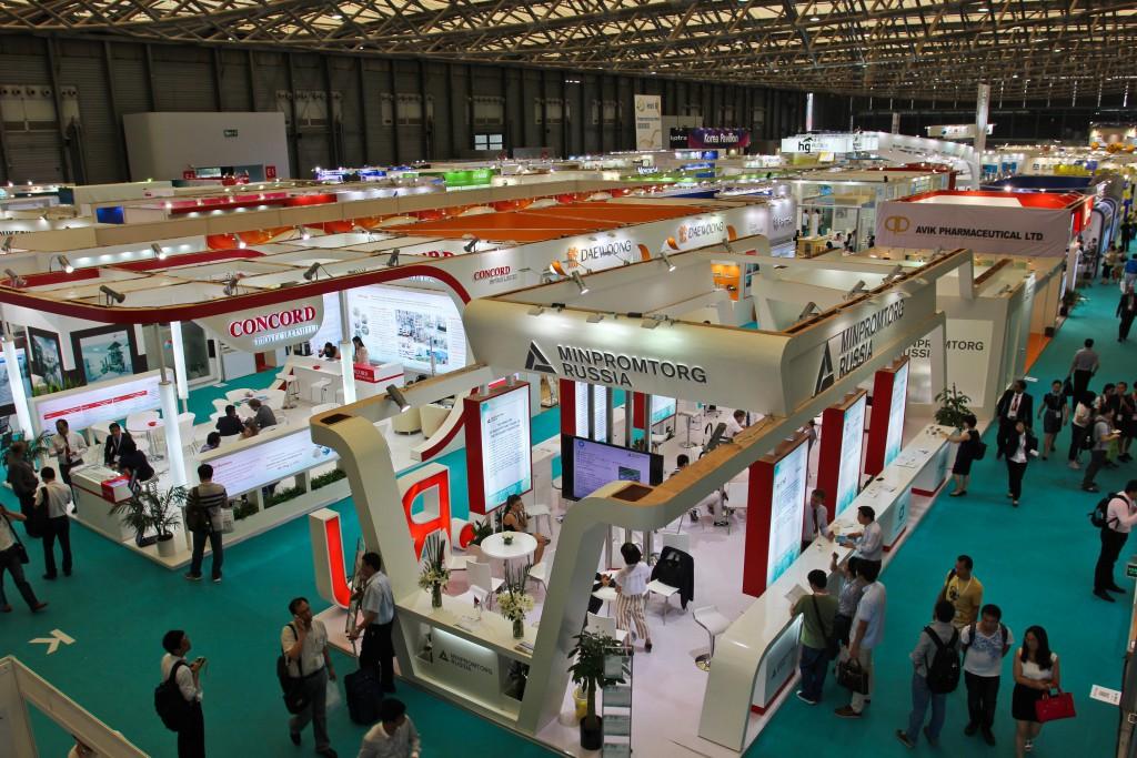 посещение выставки в Шанхае