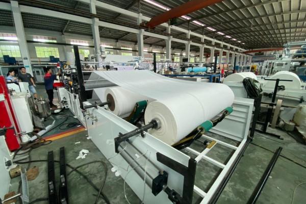Прием оборудования для производства бумажных салфеток